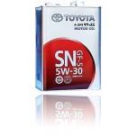 TOYOTA Motor Oil SN 5W30 (Япония) 4l